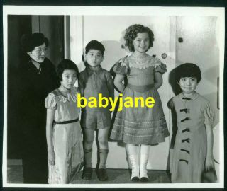 Shirley Temple Vintage 6x8 Photo 1937 W/ Japanese Diplomat Family At Studio