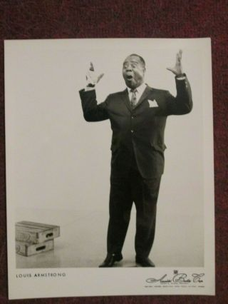 Louis Armstrong - 1950`s Agency Photo - Jazz