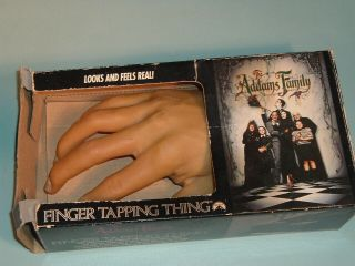 The Addams Family Finger Tapping Thing Hand & Box Realistic (1991)