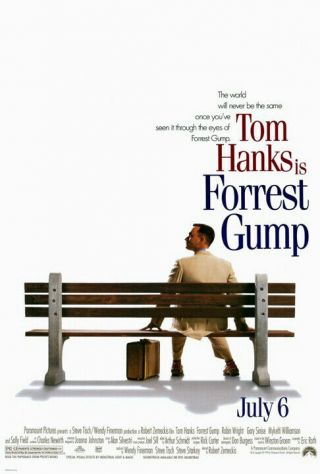 Forrest Gump (1994) Movie Poster - Double - Sided - Rolled