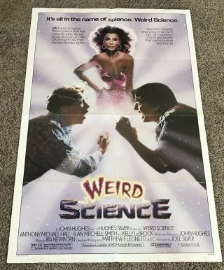 1985 Weird Science Movie Poster,  Folded,  27x41