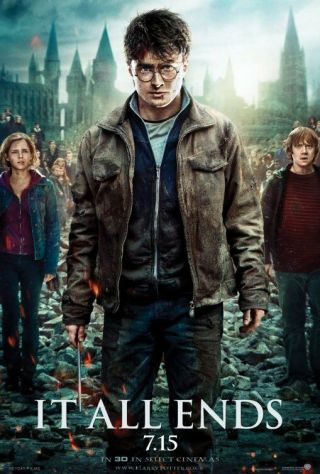 Harry Potter And The Deathly Hallows Part 2 Movie Poster Ds 2 Sided 27x40