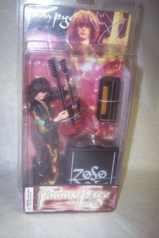"Jimmy Page Led Zeppelin Neca 7"" Rare Action Figure 2006 In Package Htf"