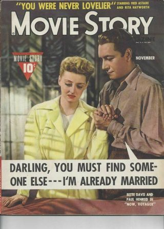 Movie Story - Bette Davis And Paul Henreid - November 1942