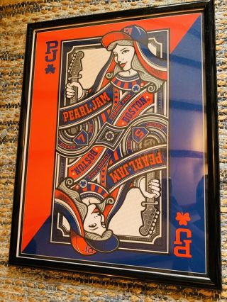 Pearl Jam Poster Fenway Park 2016 - Mark5