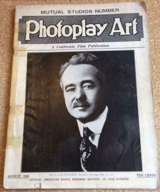 Photoplay Art August 1916 California Film History Santa Barbara Mutual Vogue