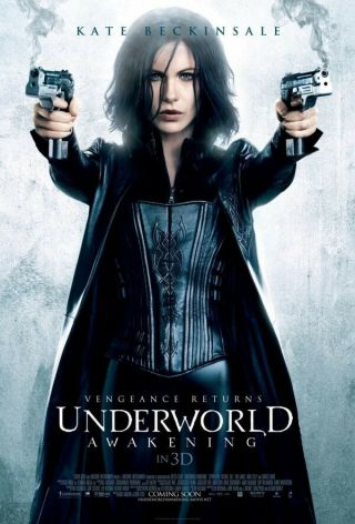 Underworld : Awakening Intl 3d Movie Poster Double Sided 27x40