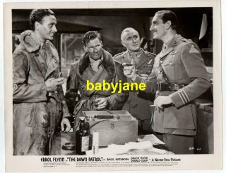 Errol Flynn Basil Rathbone David Niven D.  Crisp Orig 8x10 Photo 1938 Dawn Patrol