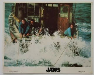 Vintage 1975 Jaws Movie Still Color Photo Spielberg Shaw Dreyfuss Schneider