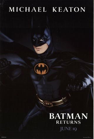 Batman Returns 1992 27x41 Orig Movie Poster Fff - 50271 Rolled Danny Devito