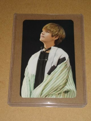 Official Bts Wings Tour Dvd Taehyung V Photocard Top Loader - Usa Seller Rpc95