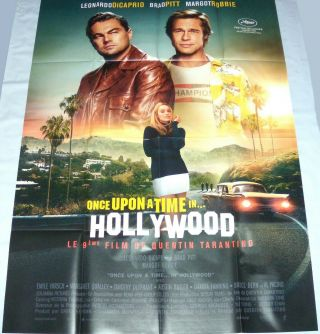 Once Upon A Time In Hollywood Tarantino Dicaprio Brad Pitt Large French Poster 2