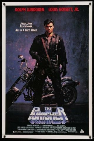 The Punisher Rolled Video Movie Poster Dolph Lundgren Never Seen A Non V.