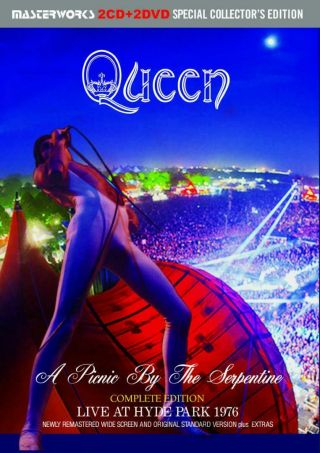 Queen A Picnic By The Serpentine Live At Hyde Park 1976 Complete 2cd,  2dvd