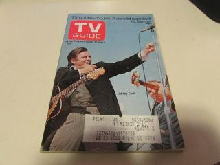 Vintage - Tv Guide Aug 30th 1969 - Johnny Cash - Cover Exc