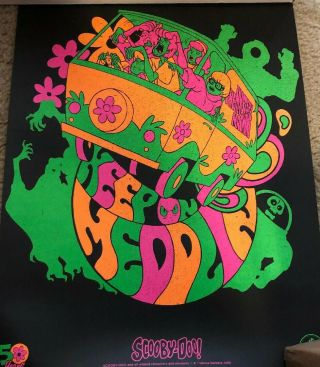 """Loot Crate Exclusive Scooby Doo Blacklight Poster 12 """" X16 """" 50 Years"""