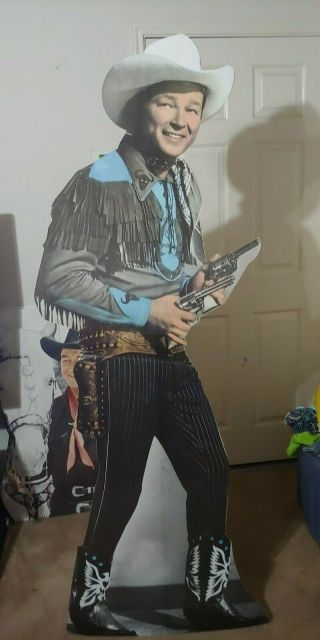 Vintage Movie Theater Stand Up Life Size Cut Out Of Roy Rogers
