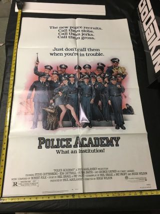 Vintage 1984 Police Academy 1 - Sh Theater Movie Poster Comedy