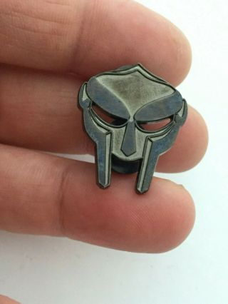 "The Mf Doom Hat Pin - Rare 2/100 Oxidized Black 1.  25 "" 2012 Le"