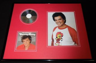 Conway Twitty 16x20 Framed The Legendary Cd & Twitty Bird Photo Display