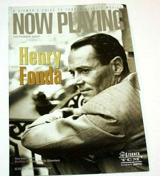 Now Playing Turner Classic Movies Tcm Henry Fonda October 2007