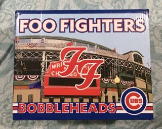 Foo Fighters Chicago Wrigley Field 2018 Bobblehead Set 7/29 7/30 Dave Grohl