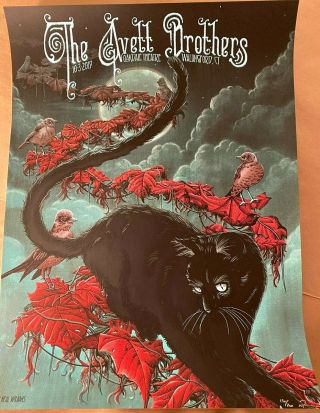 Avett Brothers Oakdale Wallingford Ct Poster Print Oct 3rd 2019 Signed S/n /200