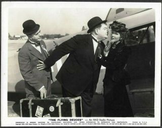 Laurel And Hardy 1939 Promo Photo The Flying Deuces Jean Parker