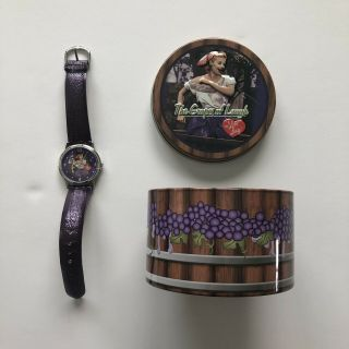 The Grapes Of Laugh I Love Lucy Purple Wrist Watch With Tin Grapes Of Laugh