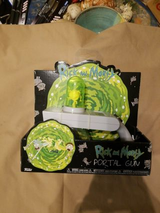 Official Rick And Morty Portal Gun Toy Cosplay Portal Image Projector