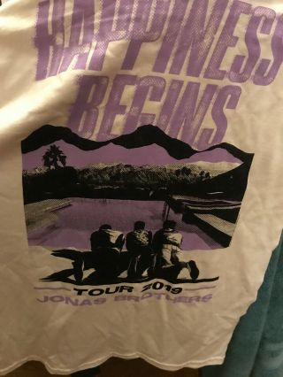 Jonas Brothers Happiness Begins Tour 2019 Long Sleeve Size Small