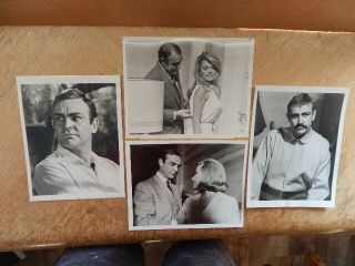 4 Vintage 1970s Sean Connery Tv Movie Press Photos Goldfinger,  Molly Maguires