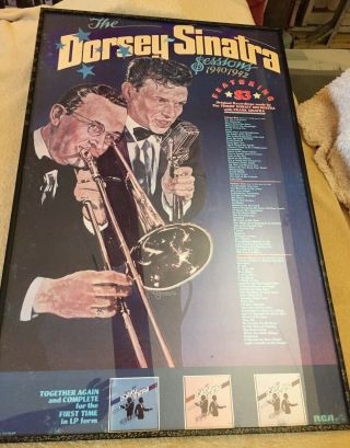 Frank Sinatra Tommy Dorsey Framed Poster With Glass Front.