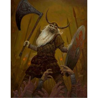 Iron Maiden Viking Eddie Lithograph Jaime Carrillo Licenced Limited Edition
