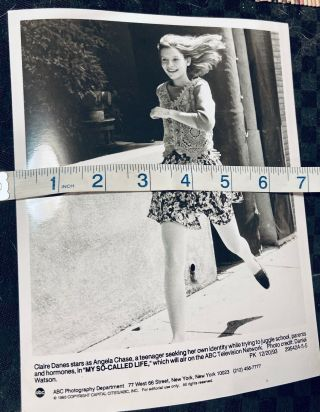 Claire Danes My So Called Life 1993 Promotional Black & White Photograph Tv 9x7