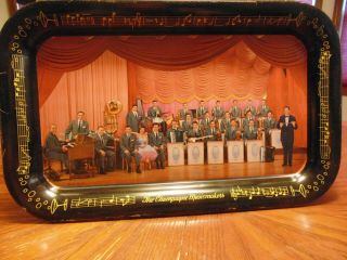 "Lawrence Welk "" The Champagne Musicmakers "" Tray Good"