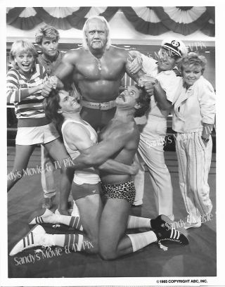 Hulk Hogan,  Gavin Macleod,  Bruce Jenner Terrific Tv Photo The Love Boat