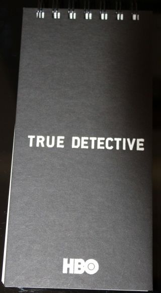 Hbo Promo True Detective Notepad Note Pad Police Detective Notebook Promotional