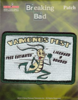 Breaking Bad Vamonos Pest Iron On Patch Officially Licensed