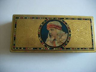 Rudolph Valentino Antique Candy Tin By Canco Beautebox