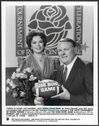 Shirley Temple The Rose Bowl Game 1980s Promo Photo Football