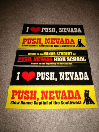 Push,  Nevada Bumper Stickers From The Abc Show -