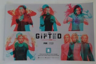 Sdcc Comic Con 2018 Handout Fox Marvel The Gifted Poster W 3d Card