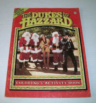 The Dukes Of Hazzard Special Christmas Edition Coloring & Activity Book 1982
