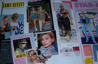 Hailey Baldwin Justin Bieber 38 Pc German Clippings Full Pages