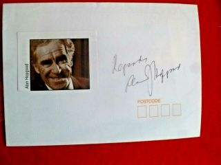 Actor & Playwrite Alan Hopgood Signed Cover