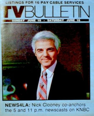 Tv Guide 1983 Nick Clooney - News4la Knbc Regional Tv Bulletin Oc Vg