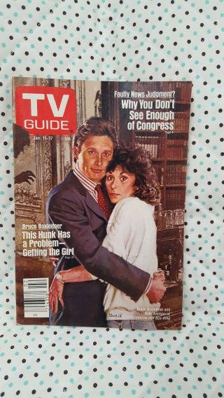 """Tv Guide Jan 1986 """" Scarecrow And Mrs.  King """".  L.  A.  Edition."""