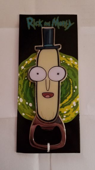 Rick And Morty Cartoon Mr Poopybutthole Magnetic Bottle Opener