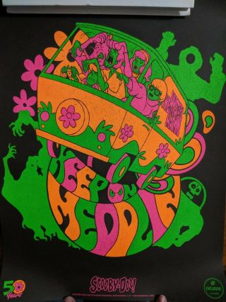 Loot Crate Exclusive Scooby Doo Mystery Machine Blacklight Poster